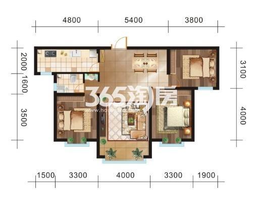 三室两厅一卫113.82㎡
