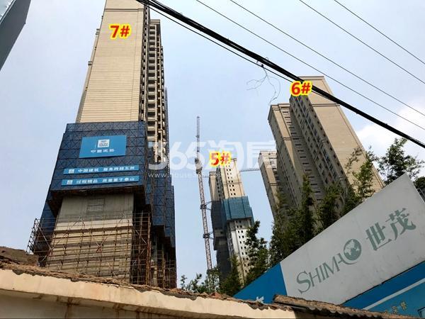 世茂时光里5#、6#、7#楼工程进度实景(2018.4摄)