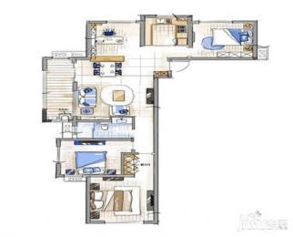 京东紫晶精装修4房楼层好 拎包入住有钥匙随时看房