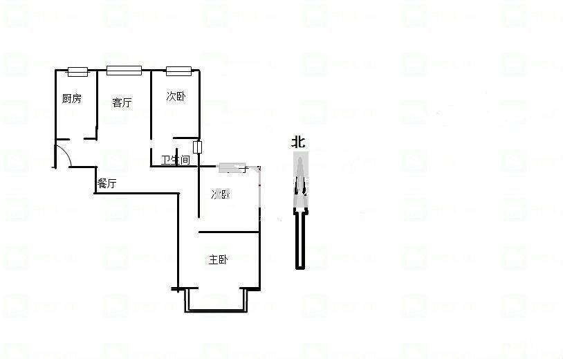 香苑小区3室2厅1卫105.23�O2011年产权房简装