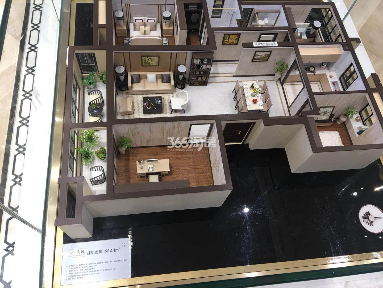 滨湖金茂悦144㎡户型模型实景图(2018.5.2)