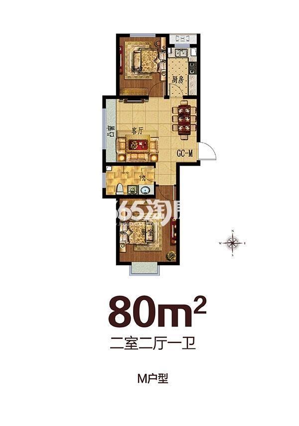 步阳江南壹号二期M户型