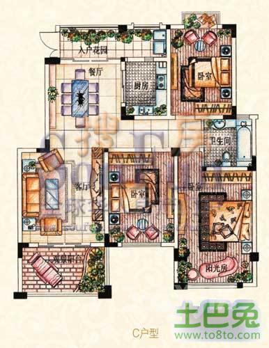 武进九洲豪廷苑3室2厅2卫116�O