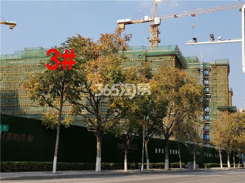 美的雍翠园在建3#楼实景图(11.26)