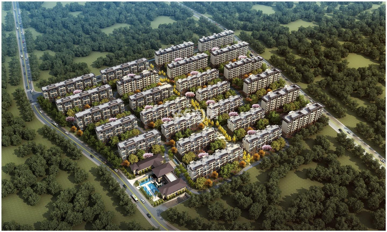 北京城建西华龙樾鸟瞰图