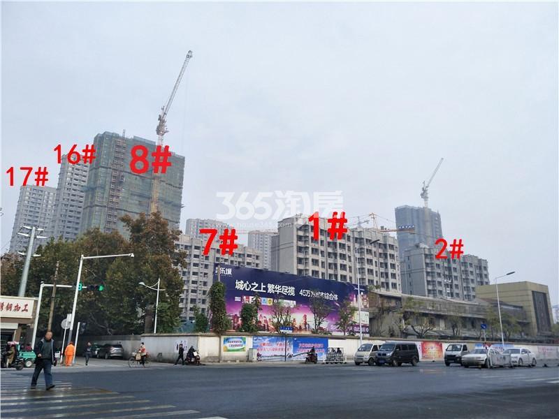 美的乐城在建1、2、7、8、16、17#楼实景图(11.21)