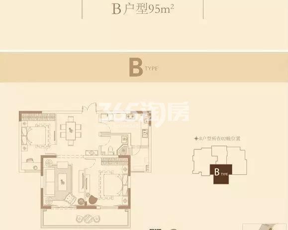 长江峰景95㎡户型图