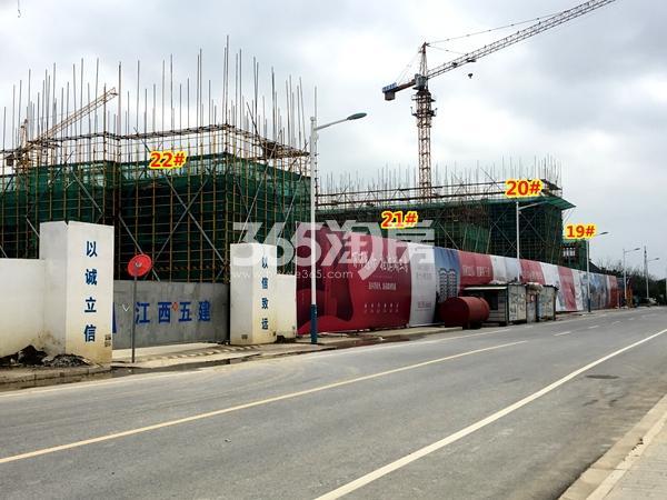 新力帝泊湾20-22#楼小高层、19#楼叠墅工程进度实景(2018.3摄)