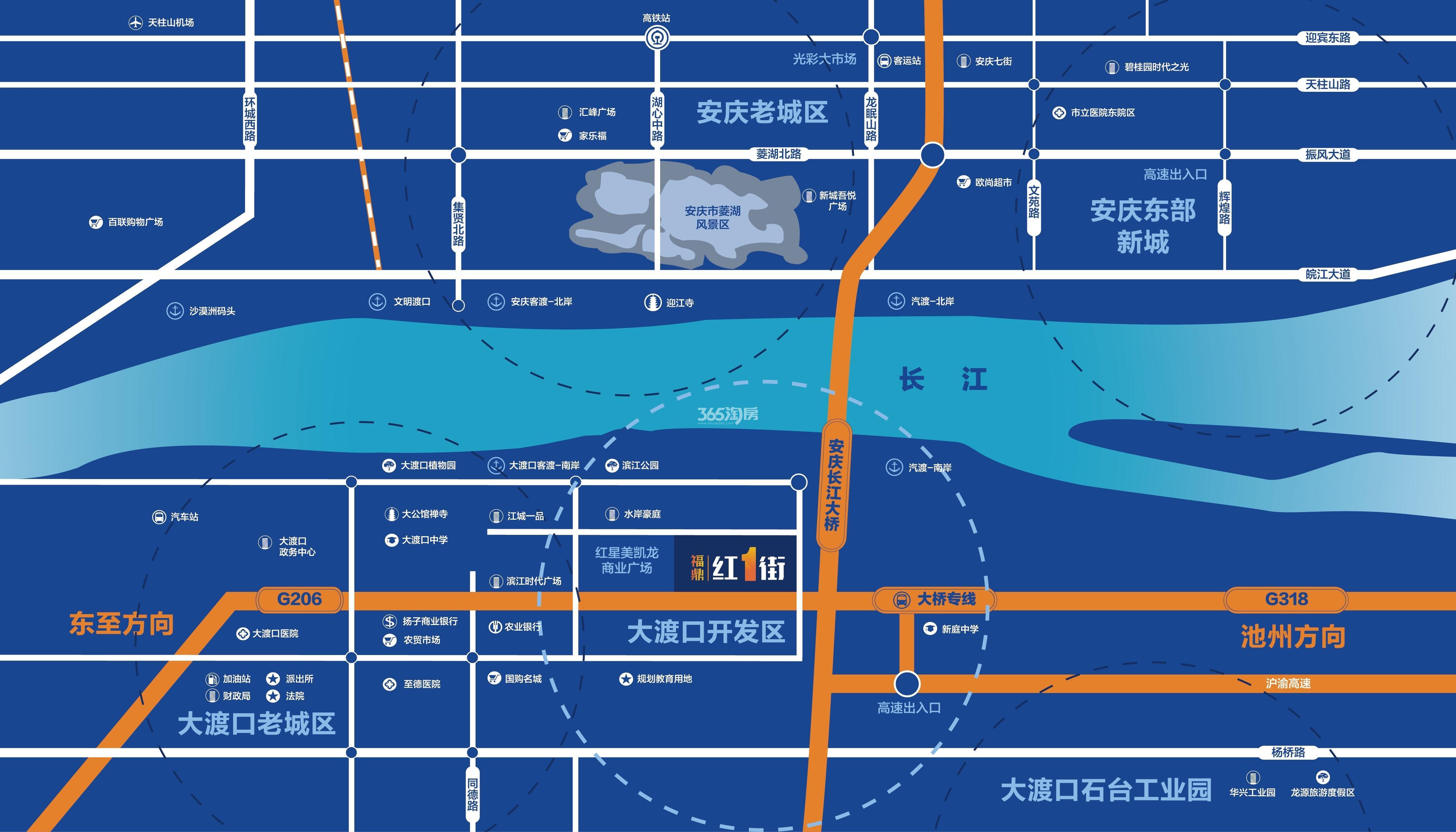 福鼎红1街交通图