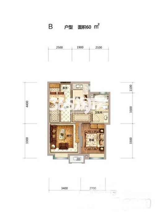 60平米一室