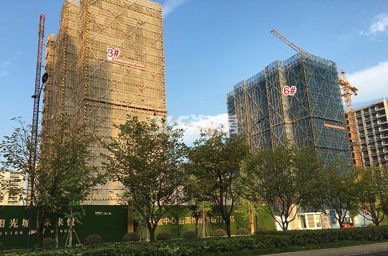 阳光城未来悦3、6号楼施工进程图(2018.9)