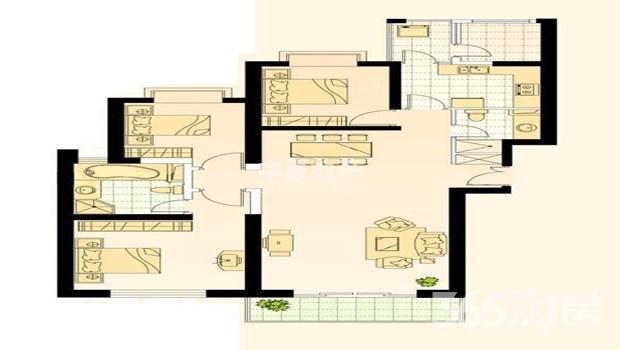 世茂滨江新城一期3室2厅2卫172.6㎡整租精装