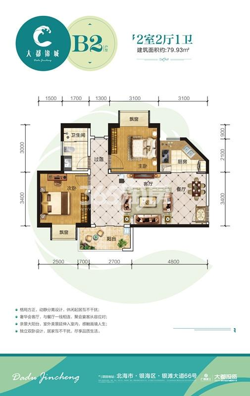 大都锦城B2户型图