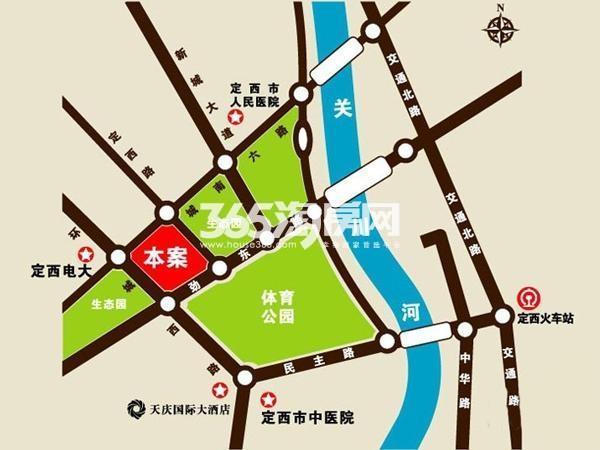 定西天庆嘉园交通图