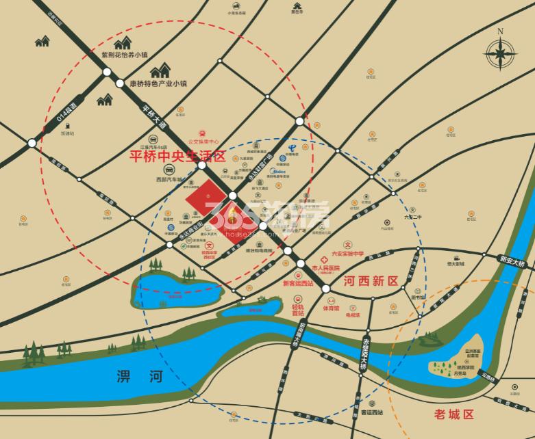 国祯·健康城交通图