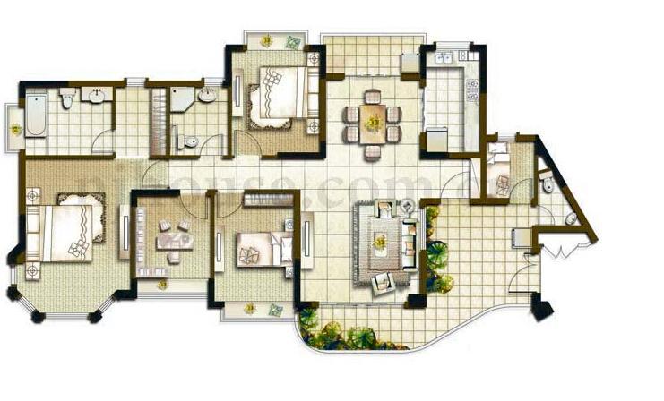 江宁区百家湖恒大绿洲4室2厅户型图