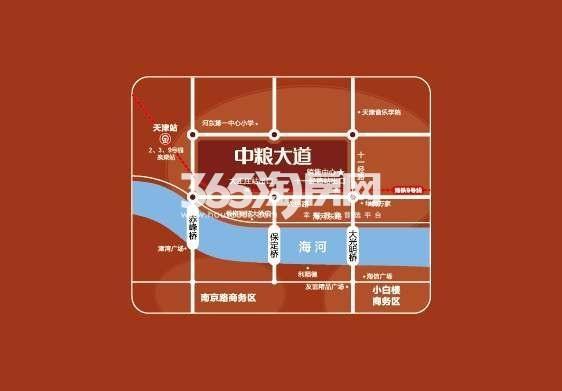中粮大道交通图