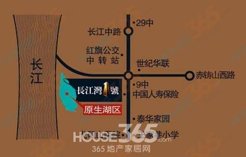 长江湾1号交通图