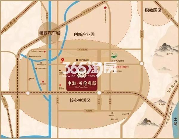 中海英伦观邸交通图