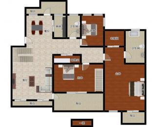 戈雅公寓4室3厅3卫130平米整租精装