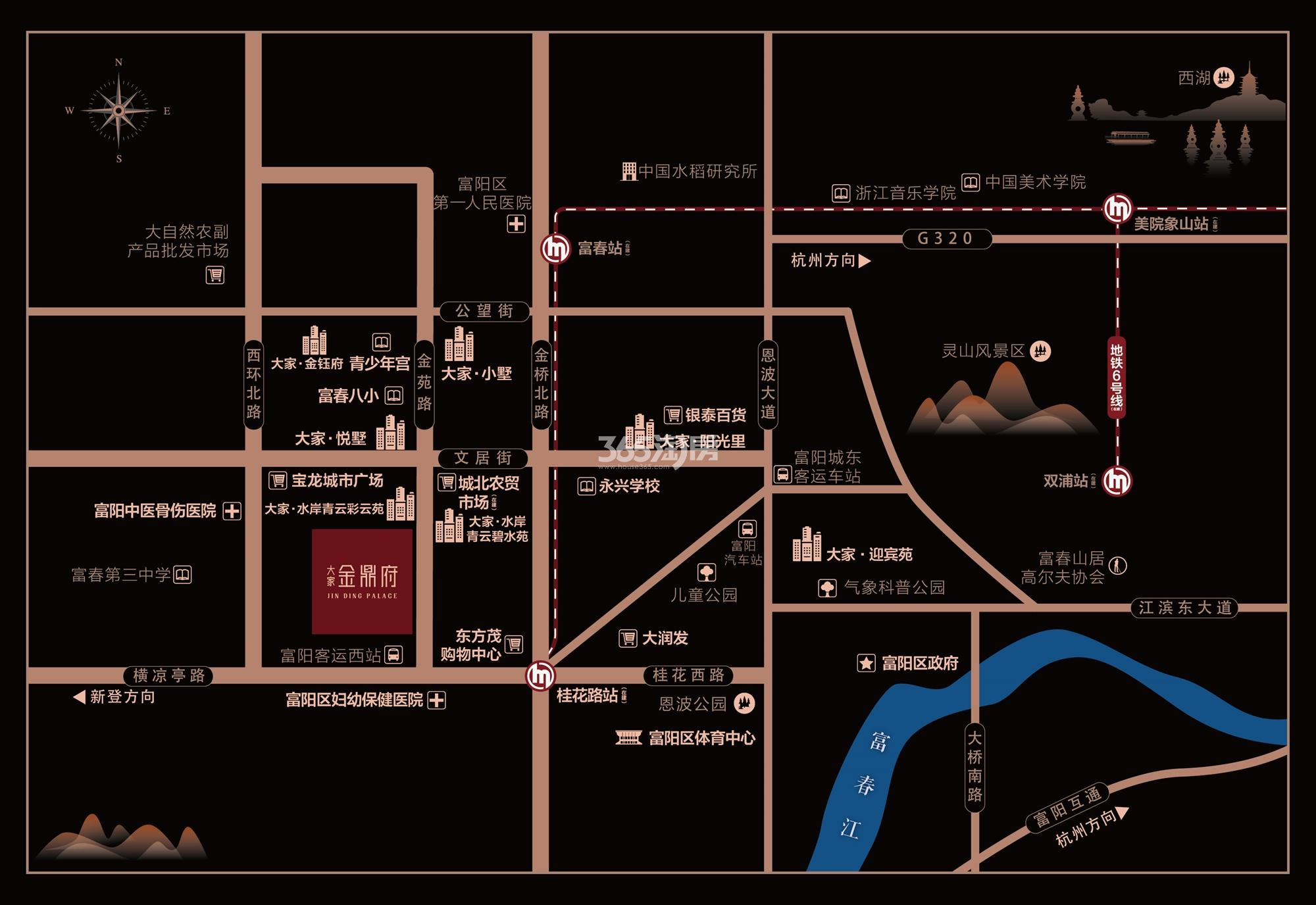 大家金鼎府交通图
