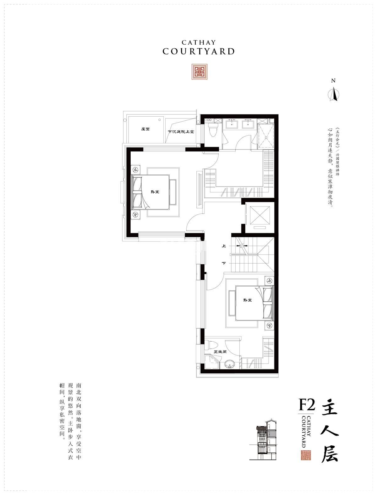 文一泰禾合肥院子别墅370㎡F2户型图