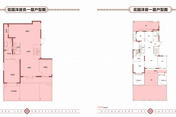恒大国际城花园洋房G户型4室2厅3卫1厨148.28㎡