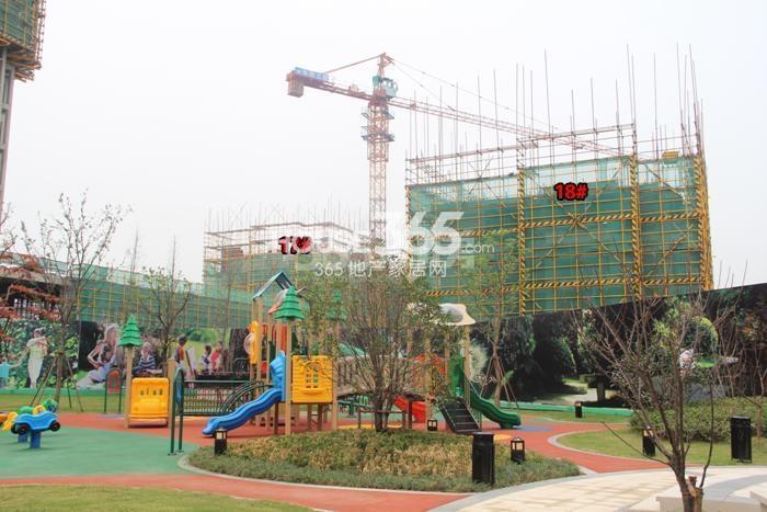 雅居乐国际花园17、18号楼施工进程图(2015.9)