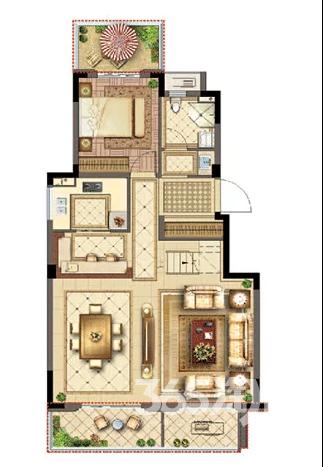 无锡协信阿卡迪亚天骄观邸4室3厅3卫160平方产权房毛坯