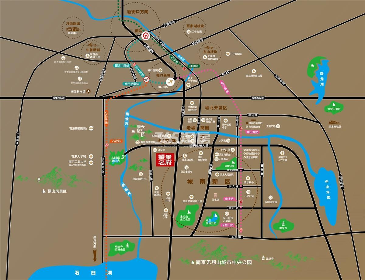 望景名府交通图