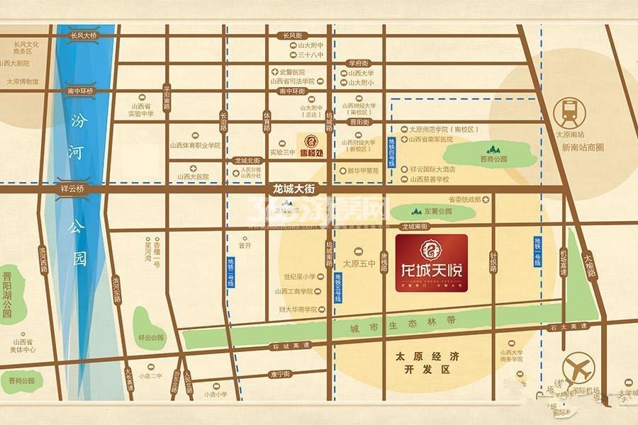 龙城天悦交通图