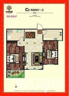 中央风景2室2厅1卫88平米2016年产权房毛坯