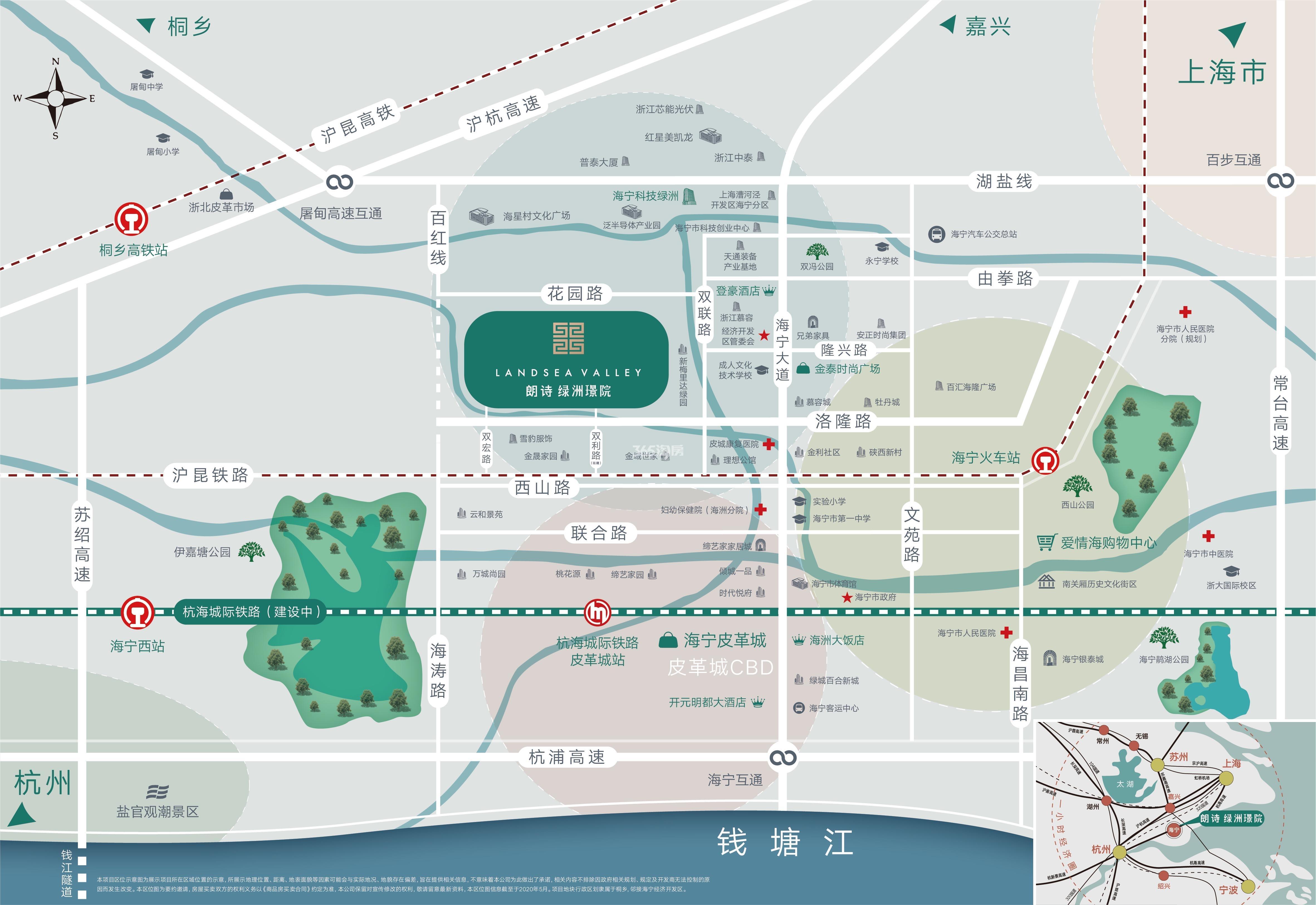 朗诗绿洲璟院交通图