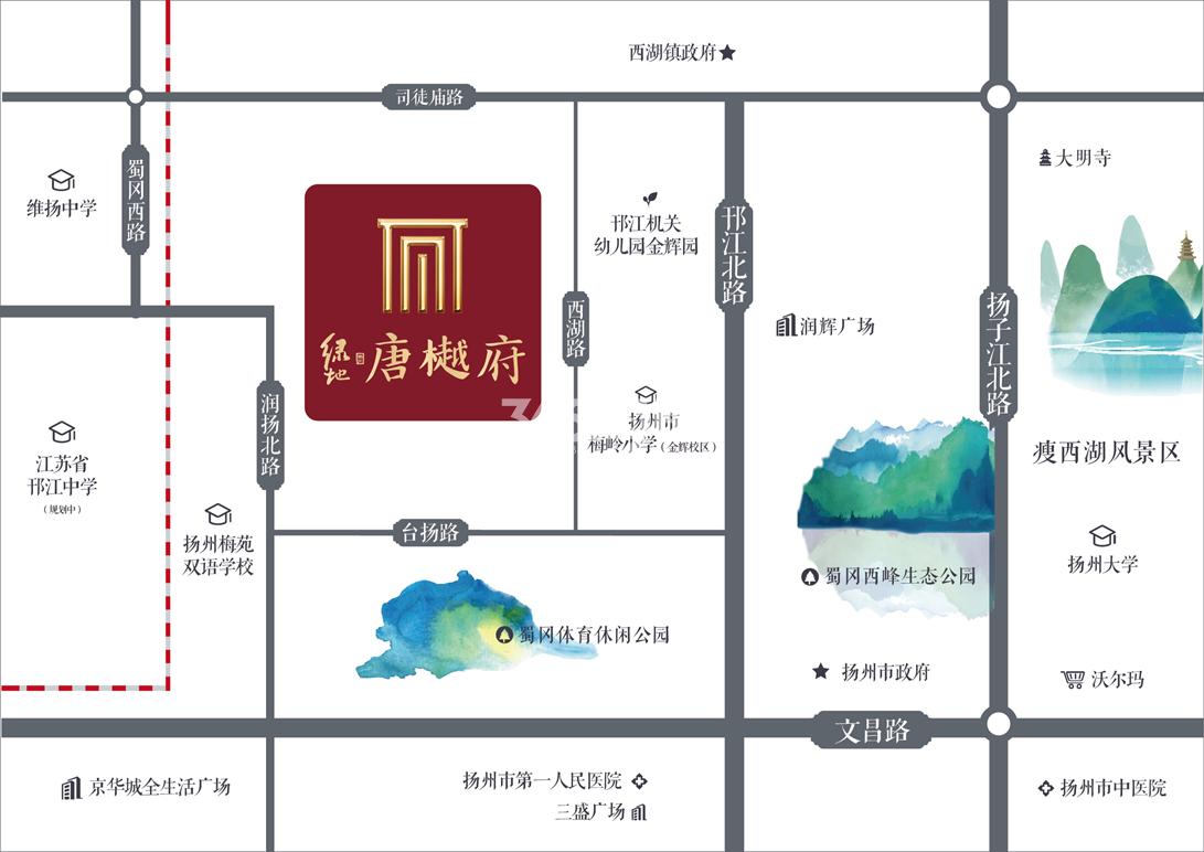 绿地·唐樾府交通图