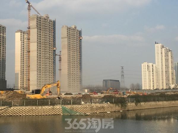 苏宁悦城四期已动工实景图(2017.1 摄)