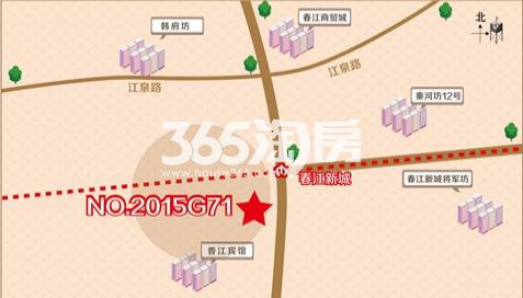 禹洲铁心桥G71地块交通图