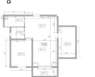 金王府电梯大两房104平方轻松改三房