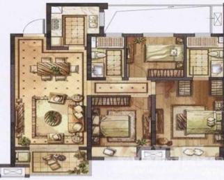 惠山区华润橡树湾3室2厅2卫111㎡