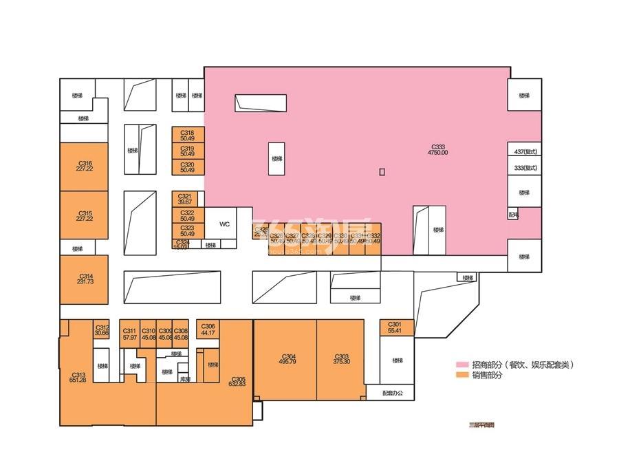 德盛广场户型分布平面图