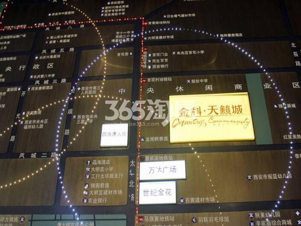 金科天籁城交通图