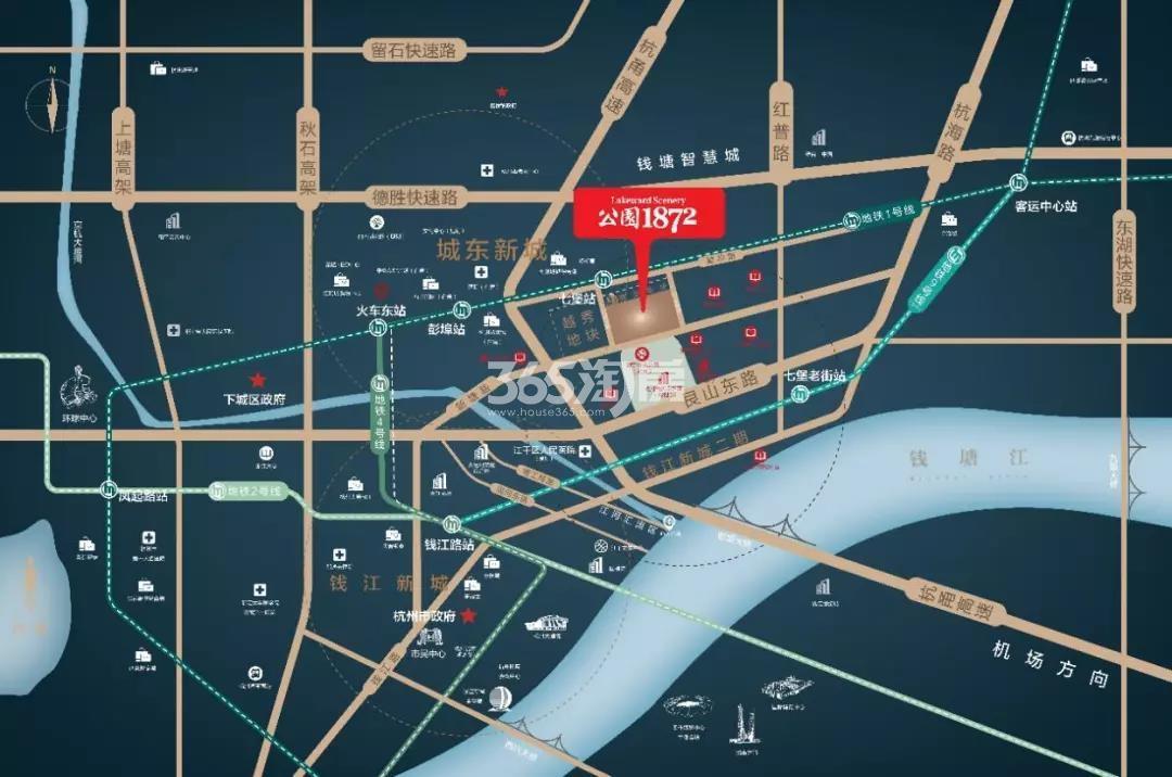 招商越秀公园1872交通图