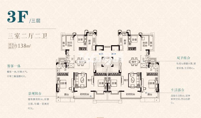 S1三层138㎡户型