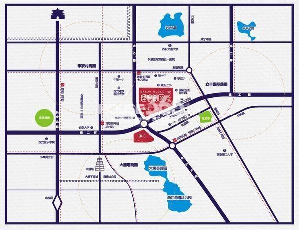 华龙太乙城交通图
