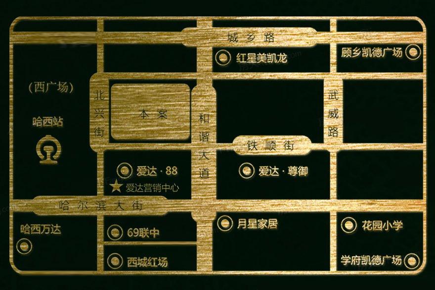 爱达·盛锦交通图