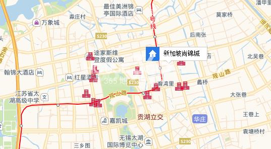 银城尚锦城交通图