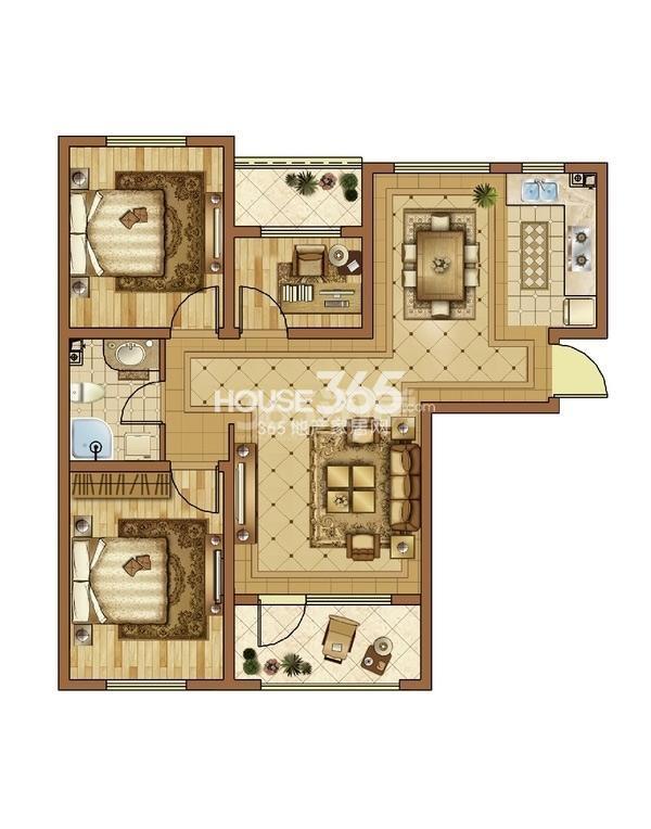 澳海7号公馆2室2厅1卫85㎡