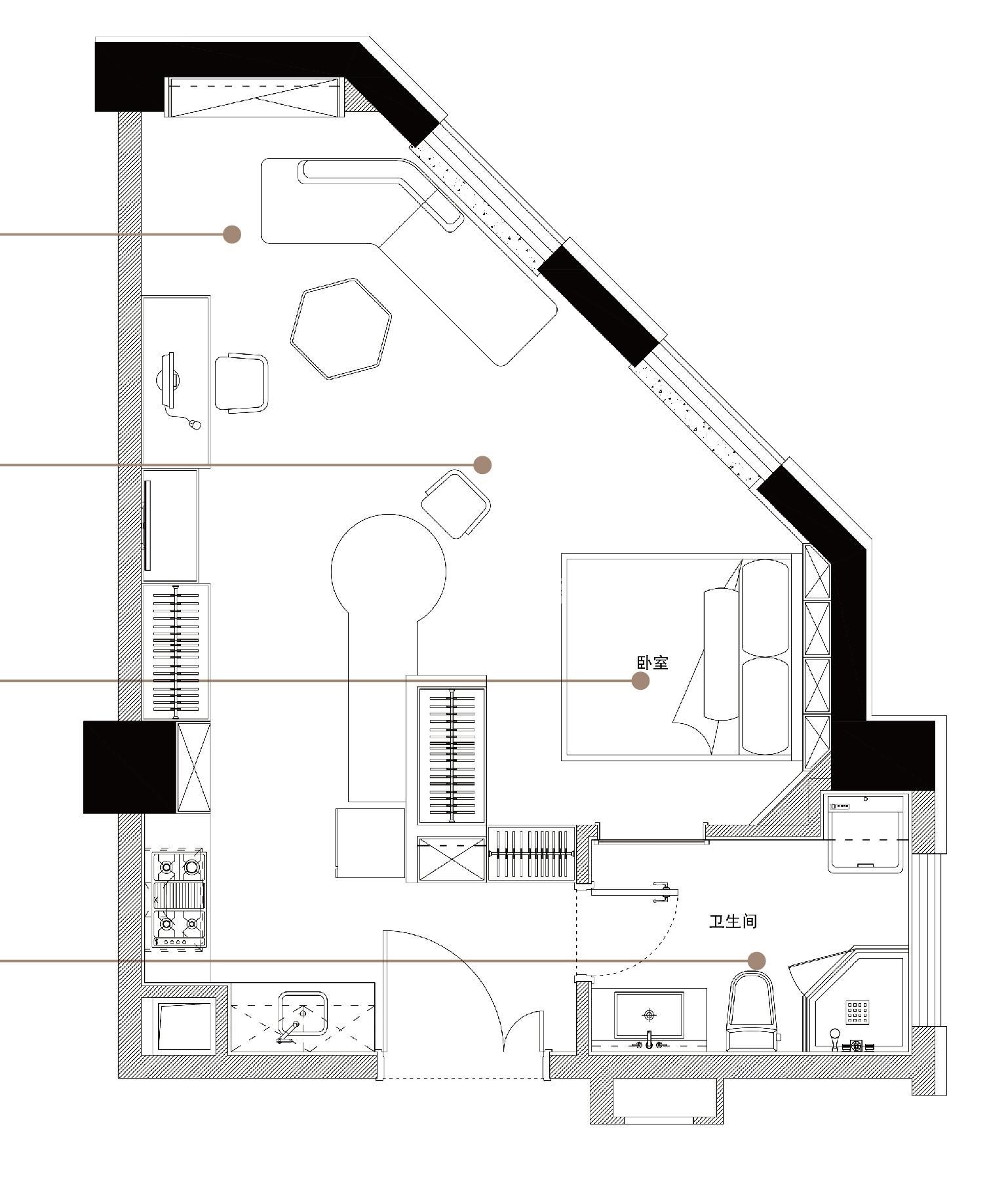 绿地·观澜湾公寓约66平C户型