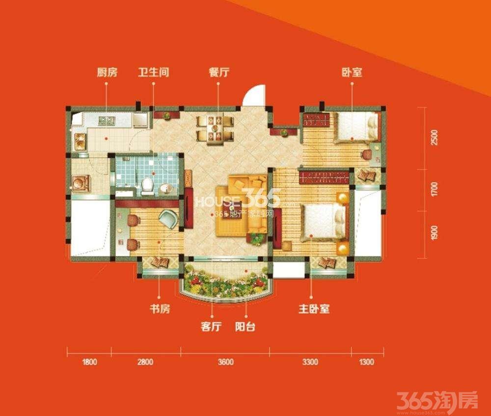 碧桂园凤凰城3室2厅2卫125㎡2011年满两年产权房精装