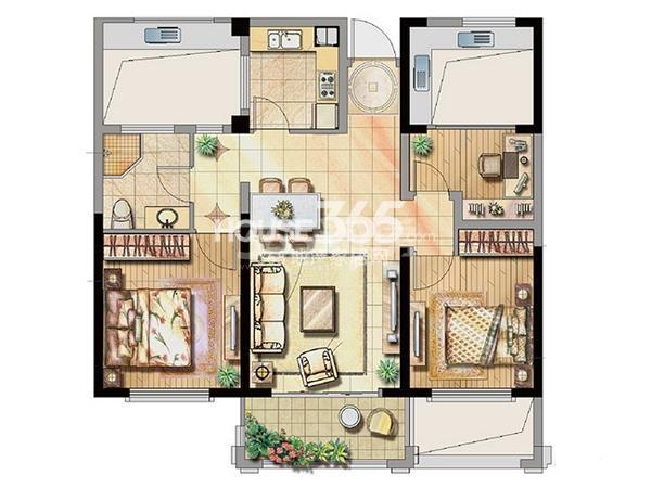 公寓1号楼标准层A1户型