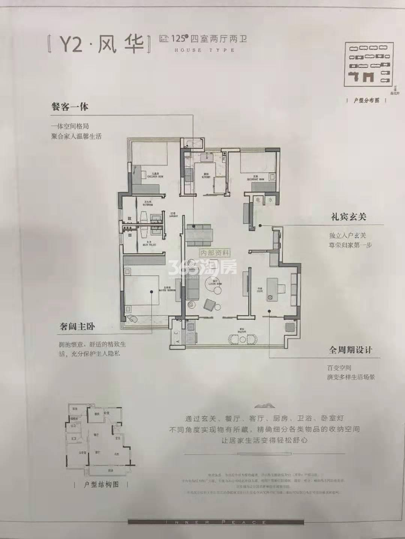 金鹏麓山院Y2#125㎡户型图